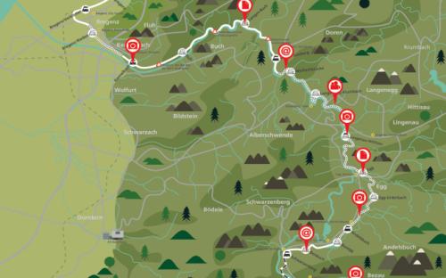 Auf Spur der Strecke der Wälderbahn
